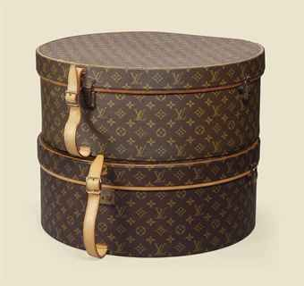 TWO BOITE CHAPEAUX IN MONOGRAM CANVAS                                                                                                                       LOUIS VUITTON, 1960S AND LATER