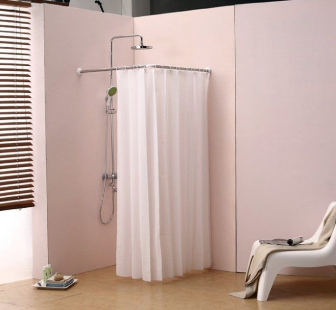 Semi Circle Shower Curtain Rod Eyelet Curtain Curtain Ideas Round