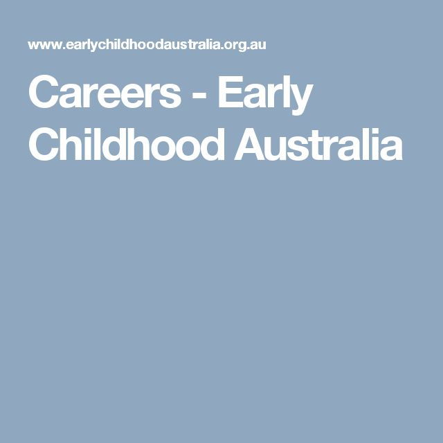 Careers - Early Childhood Australia