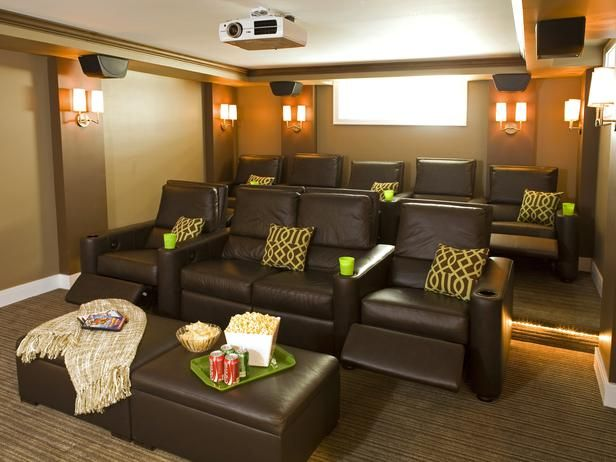 Movie Room - Contemporary Living Rooms from Pangaea : Designers' Portfolio 4114 : Home  Garden Television