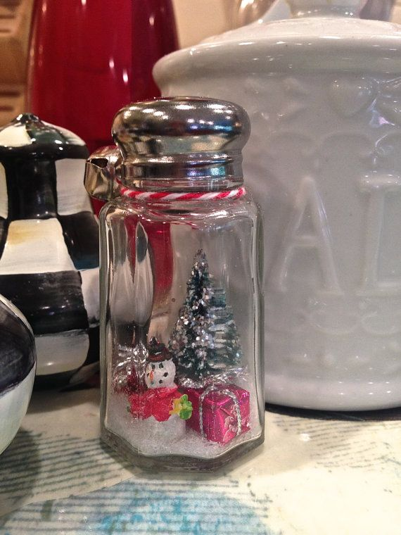 Waterless Salt Shaker Snow Globe Miniature by ChasingBainbridge, $15.95