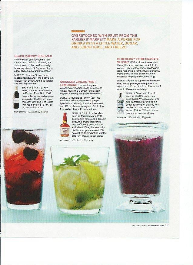 ... Spritzer, Muddled Ginger-Mint Lemonade, Blueberry-Pomegranate Slushy