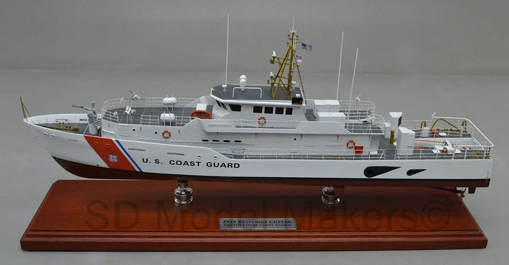 """US Coast Guard Fast Response Cutter – 24"""" Replica Model   The Sentinel-class cutter, also known as Fast Response Cutter due to its program name, is part of the United States Coast Guard's Deepwater program. SD Model Makers builds replica ship models in virtually ANY size or scale desired! Contact us for a quote. www.sdmodelmakers.com"""