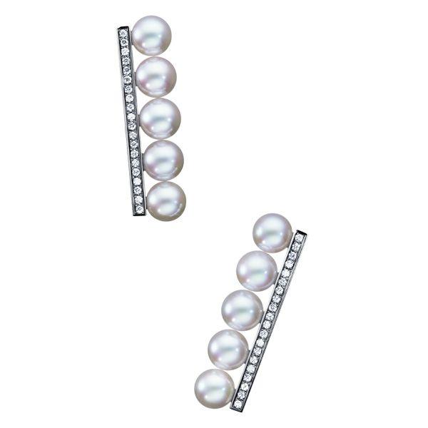 balance diamonds pavé Earrings