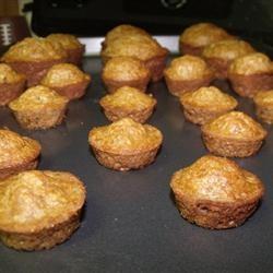 Toddler Muffins Recipe : banana, carrot and squash