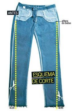 Aprenda a transformar o seu jeans básico no modelo skinny.