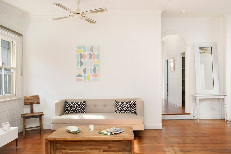 Character home on two titles with sunny garden, spacious open plan living, lounge, coffee table, 260 Elswick Street Leichhardt, Pilcher Residential