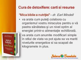 "#Cura_de_detoxifiere: carti recomandate. ""Mica biblie a nutritiei."" ~ dr. Earl Mindell."