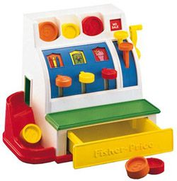 Fisher Price fait des rééditions  Caisse enregistreuse enfant Fisher Price / Kidstore Bianca and Family