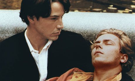 Keanu Reeves and River Phoenix in Gus van Sant's My Own Private Idaho. [20 years River gone]