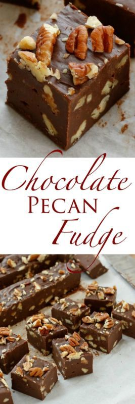 {5 Minute} Chocolate Pecan Fudge