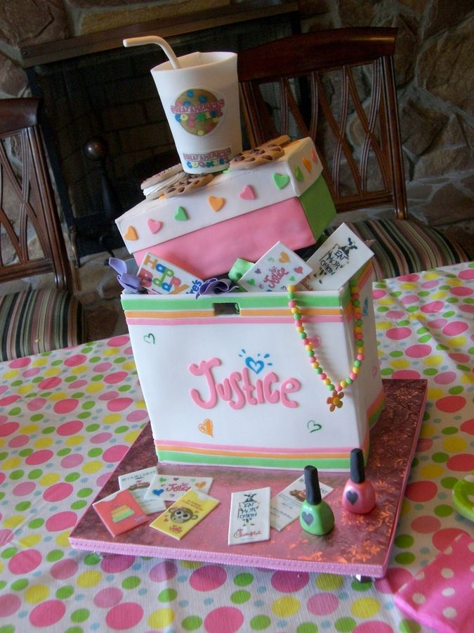 This cake was for my niece's 10th birthday party. It is her favorite pastime... Shopping!!!