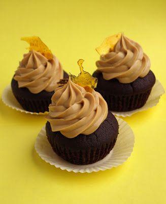 CHEZ LUCIE: Cupcakes s karamelovým krémem