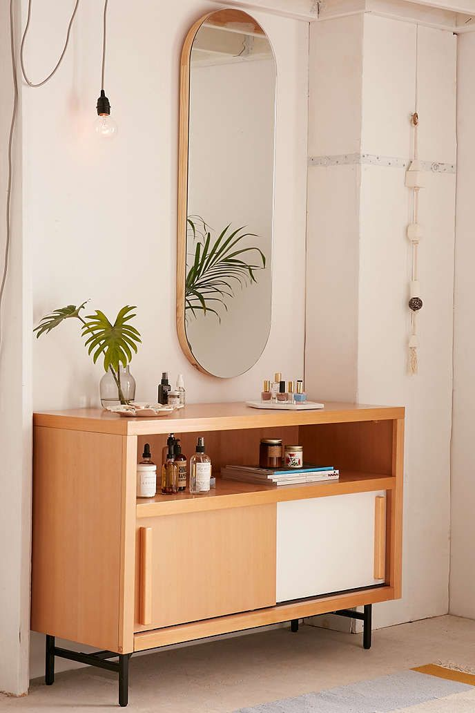 Birch Edge Oval Mirror - Urban Outfitters