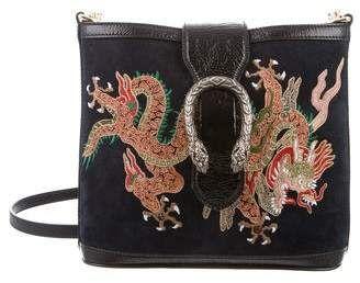 70332175691 Gucci 2018 Suede Dragon Embroidered Dionysus Bucket Bag