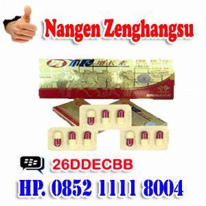 Diskripsi Produk : Obat Kuat Herbal Nama Barang : NANGEN Zenghangsu Kemasan : 1 Kotak Isi 4Kapsul Negara Asal : China Harga Paket : Rp.150.000,-  PEMESANAN : Pembelian,Pemesanan Bisa Melalui Call/Sms : ANDY SURTRINO Call/Sms : HP. 0852 1111 8004 HP. 0877 3390 2227  PESAN BISA MELALUI VIA BB MASSENGER PIN BB : 26DDECBB