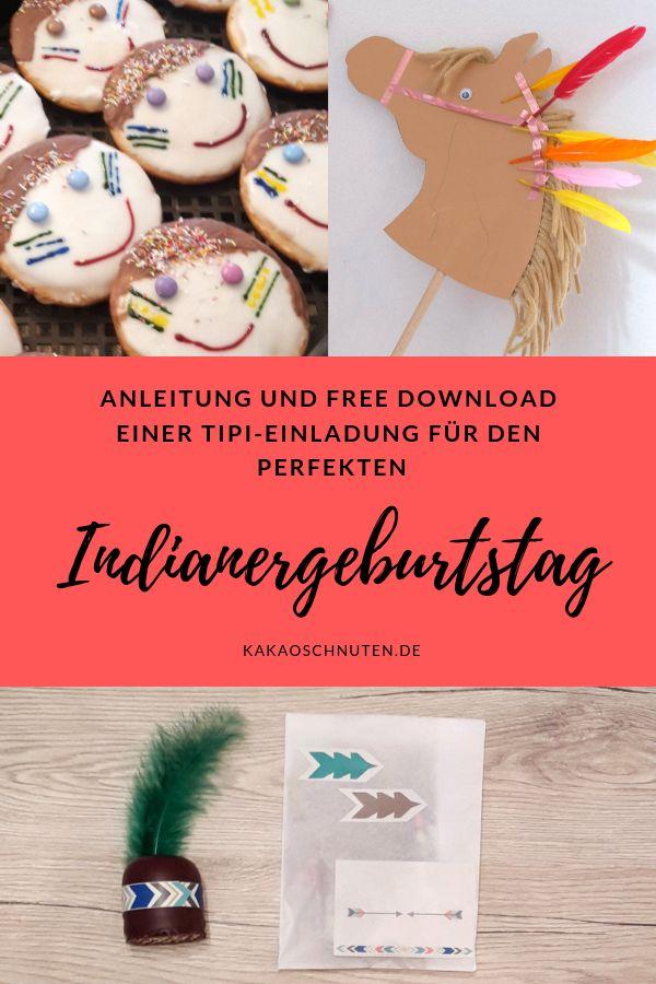Indianergeburtstag Anleitung + free Printable