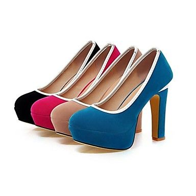 Women's Shoes Chunky Heel Round Toe Pumps Dress Shoes More Colors Available – USD $ 44.99