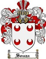 Souza Coat of Arms / Souza Family Crest This surname of SOUZA was a Portugese and Italian habitation name from any of various minor places ...