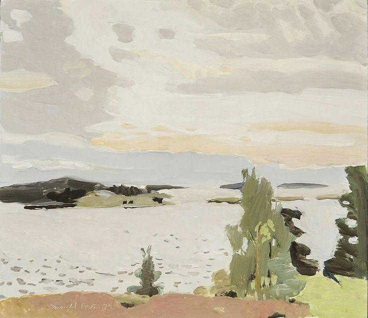 Fairfield Porter (USA 1907-1975) Morning Sky (1972) oil on board 14 x 16 in.