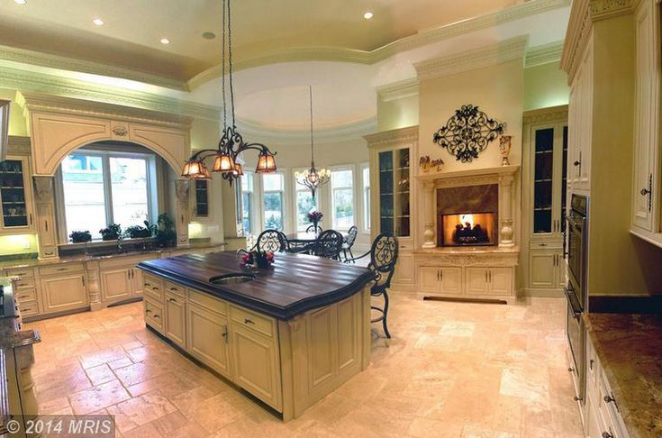 Fireplace in Kitchen...