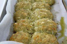 pesto and garlic doughballs