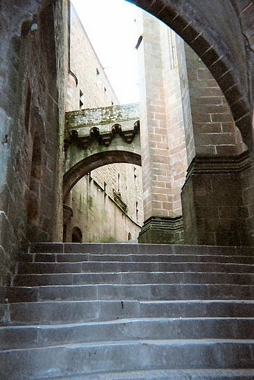 The stairs leading to the abbey.