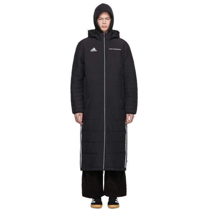Valentines Adorewe Ssense Gosha Rubchinskiy Gosha Rubchinskiy Black Adidas Originals Edition Wind Coat Ado Black Adidas Outdoor Coats Mens Quilted Coat