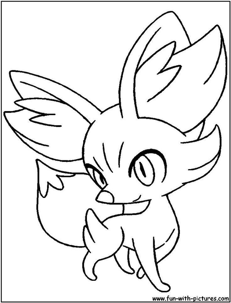 Coloring Fennekin Pages Pokemon 2020 Cartoon Coloring Pages