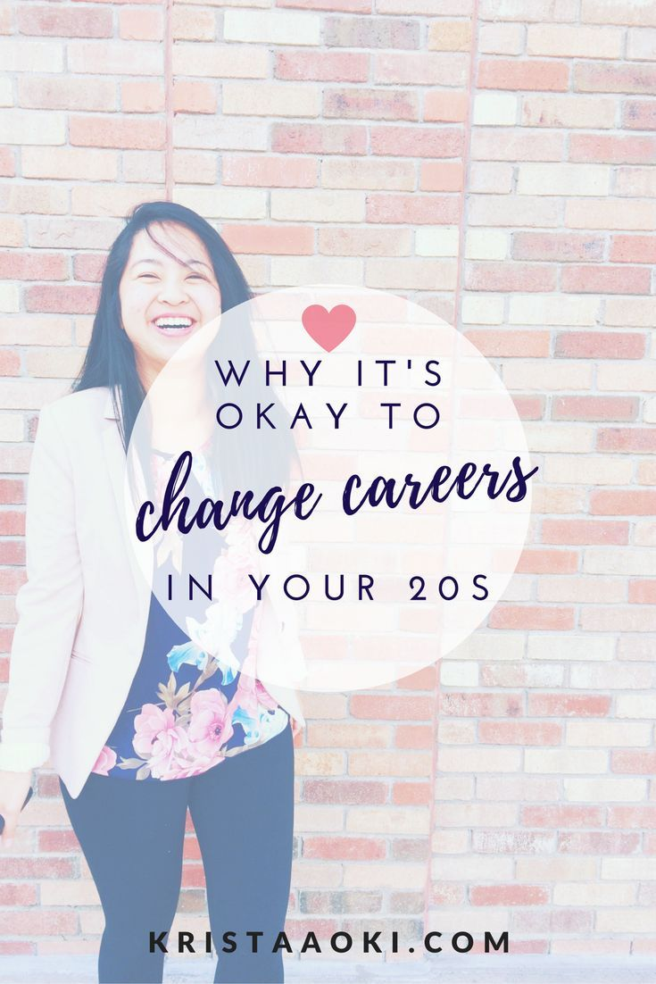 Why it's Okay to Change Careers in Your 20s   Krista Aoki, a lifestyle & travel blog for millennials. job change, job seeking, career, quarter-life crisis, personal development.