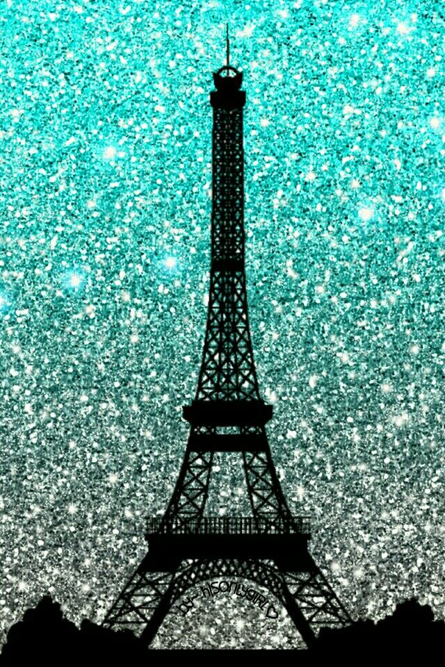 Eiffel Tower glitter wallpaper I created for the app CocoPPa.