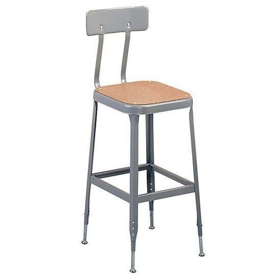 LYON Industrial Stool - With Back