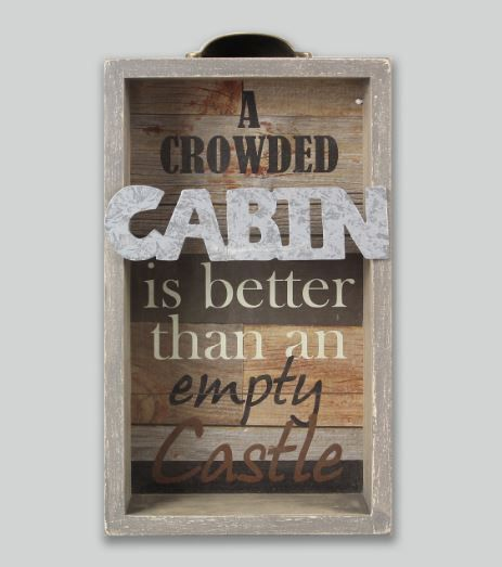 A Crowded Cabin - Suitcase Sign