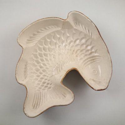 Boch aardewerken Puddingvorm Vis