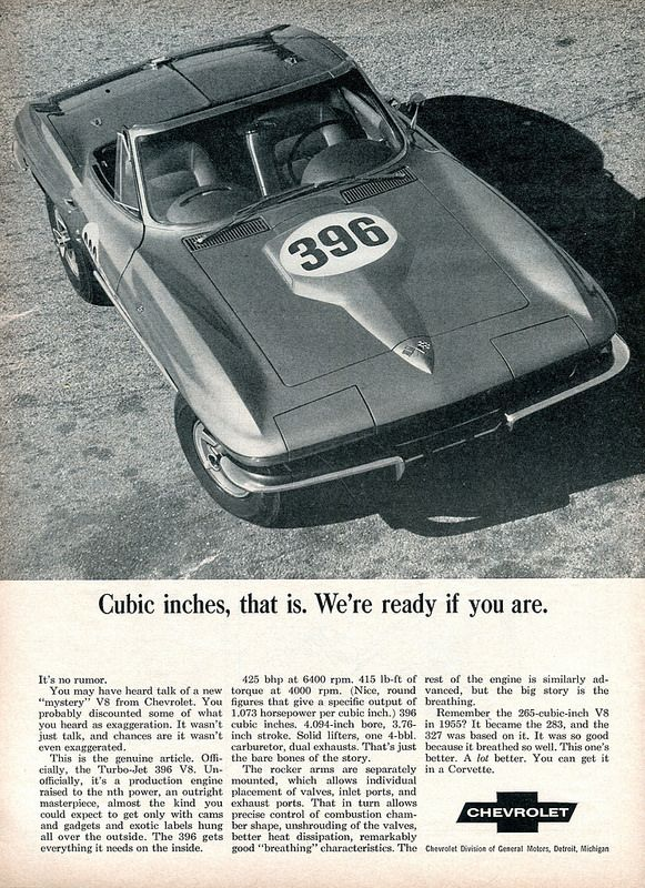 1965 Chevrolet Corvette 396 Advertisement Road & Track June 1965 | Flickr - Photo Sharing!