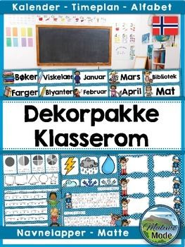 This Norwegian blue classroom decor pack is perfect for decorating your classroom, as well as adding strips with valuable information on the desks. Please note that the preview shows the contents of this pack, but in different colors. This pack contains the blue designs.