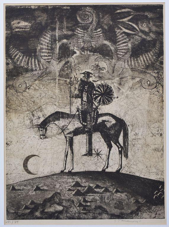 Emilie Tomanová, Don Quijote, lept, 1975