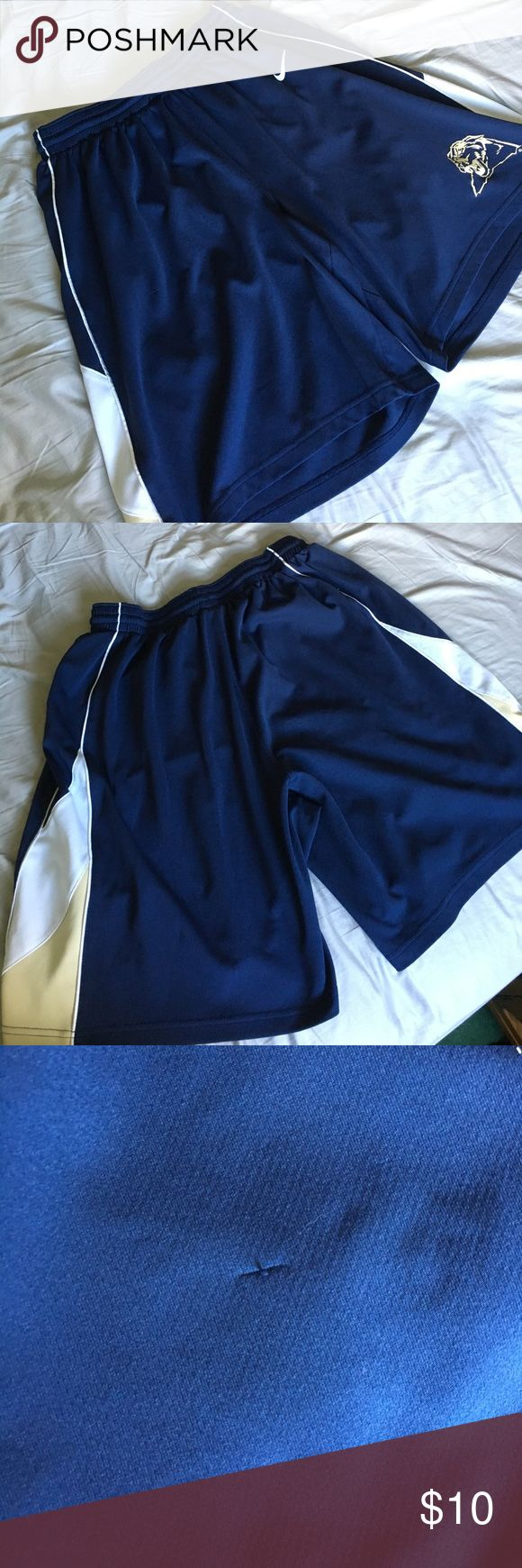University of Pittsburgh Basketball Shorts Comes from a smoke free home. Small pulley, shown in pictures. Otherwise in great condition Nike Shorts Athletic