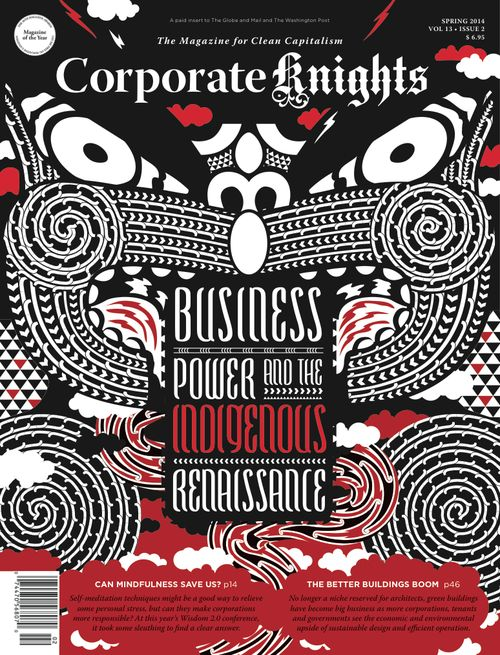 Corporate Knights - Final Cover Design by Johnson Witehira (Maori Design)