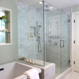 Bathroom Marble Shower Design, Pictures, Remodel, Decor and Ideas - page 4