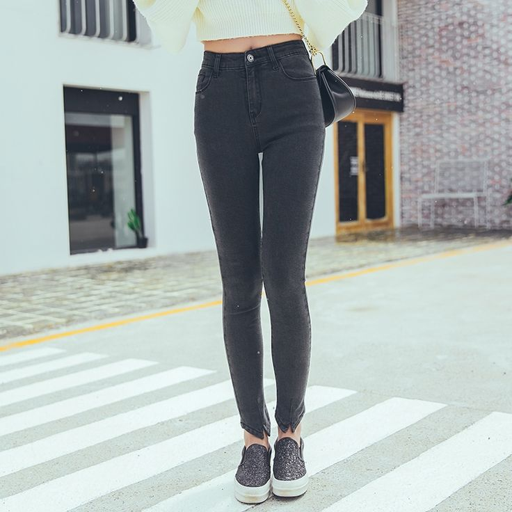 Women's Sexy Skinny denim jeans Color :Black Size:25-32 NO:XCD-X28