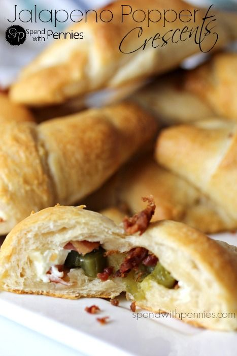 Jalapeno Popper Crescents!  These are great as snacks or appetizers!