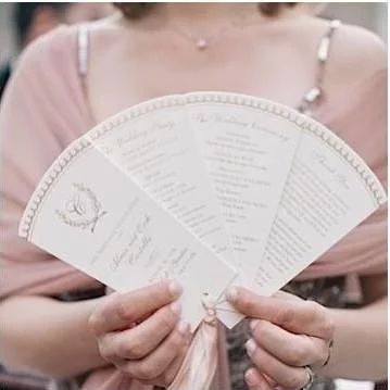 Elegant Wedding program fan