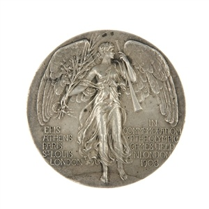 Olympic Games London 1908, metal participant's medal.