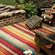 Mohawk Home Avenue Stripe Indoor/Outdoor Nylon Rug, Multi-Colored Image 2 of 4