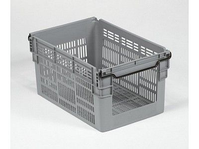 60 Litre Open Fronted Stacking - Nesting Order Picking Ventilated Plastic Crate