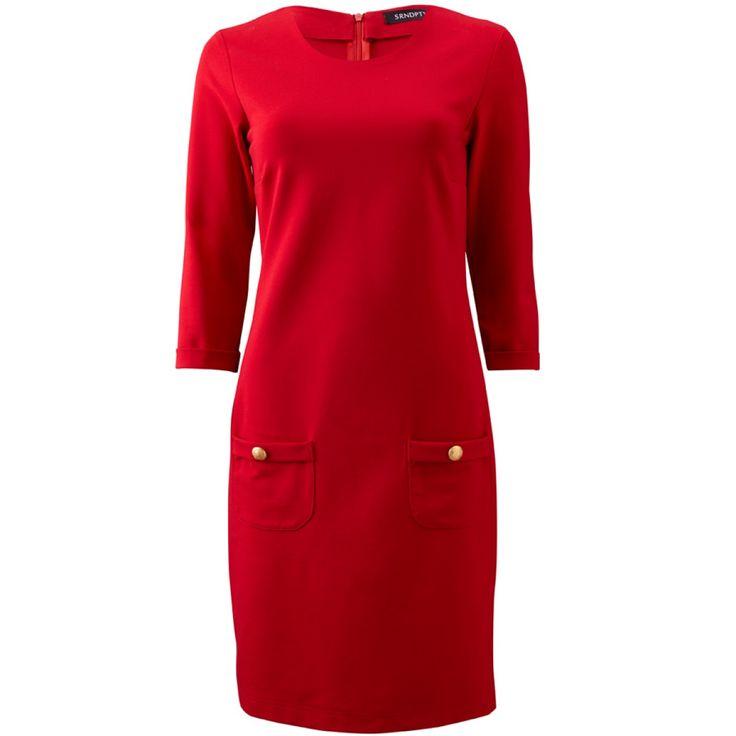 Deze prachtige rode jurk Maud van SRNDPTY perfect voor de feestdagen!