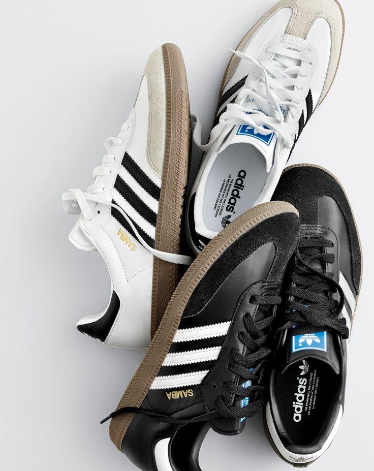 J.Crew men's Adidas® Samba® sneakers.