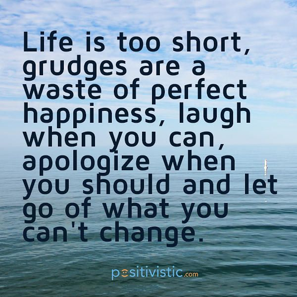 quote on holding grudges: quote life grudge happiness laugh ...