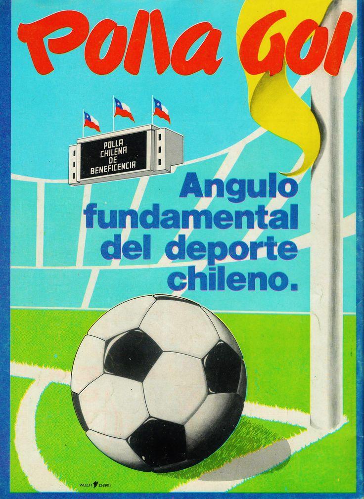 Cartel publicitario de Polla Gol, Chile año 1982